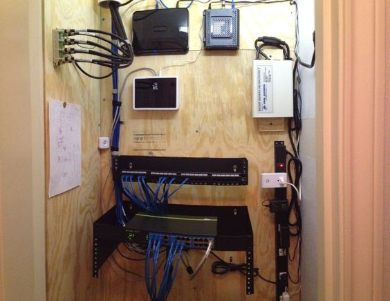 Diy Home Network Closet Home Network Home Automation System Home Automation