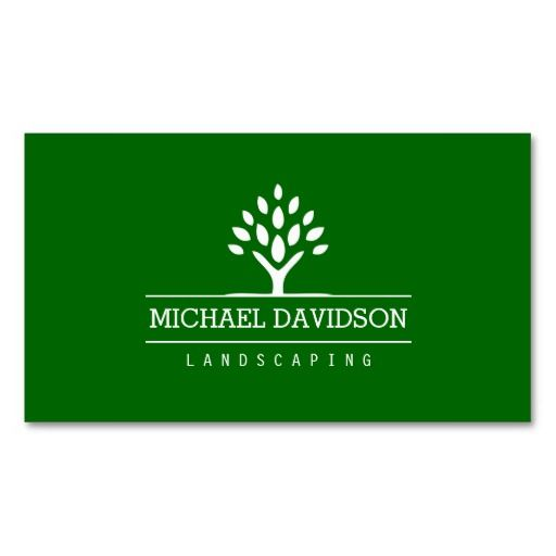 Professional Tree Landscaping Logo Business Card Template
