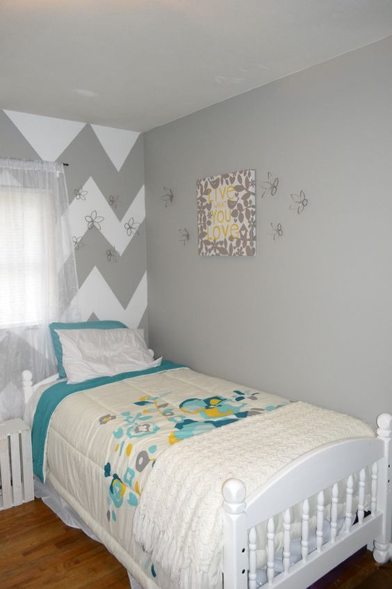 Kids guest room sherwin williams ellie gray my house - Light grey paint color for bedroom ...