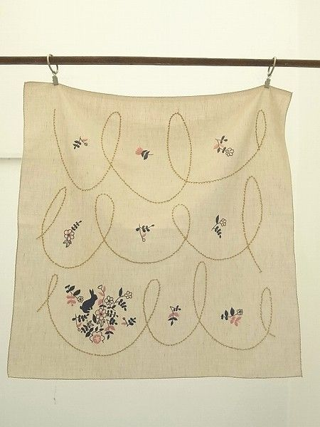 Embroidery cotton scarf