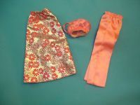 1974 Vintage Mod Barbie Get ups 'n Go Pink Party Separates #7841 Skirt pants top