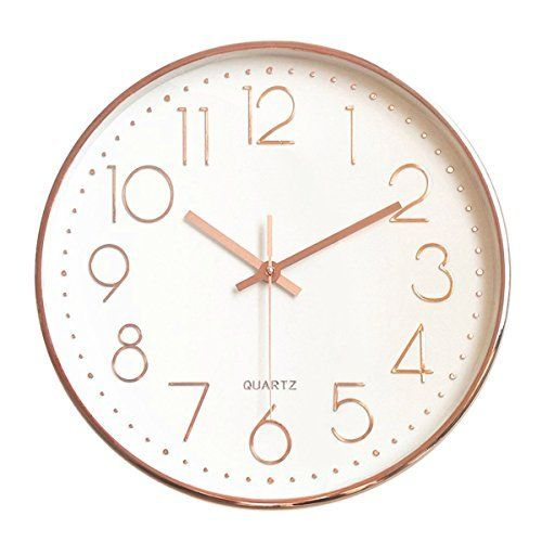 45min 12 Inch Gold Golden Circle Decorated Dial Face Retro Wall Clock Silent Non Ticking Round Home Decor Wall Clock With Ar Retro Wall Clock Clock Wall Clock