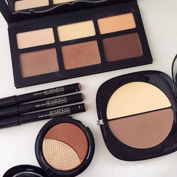 Kat Von D Shade and Light Palette- $46  Makeup Forever Pro Sculpting Duo- $39  Smashbox Contour Sticks- $45  Marc Jacobs Mirage Filter- $49