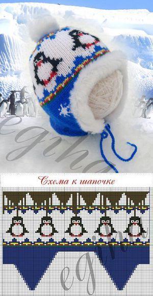Узоры для зимних детских шапочек:
