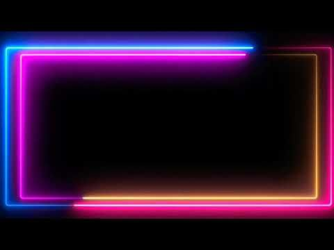 Neon Lighting Frame Glowing Border Neon Border Animated Loop Background Vf Green Screen Video Backgrounds Green Background Video Iphone Background Images