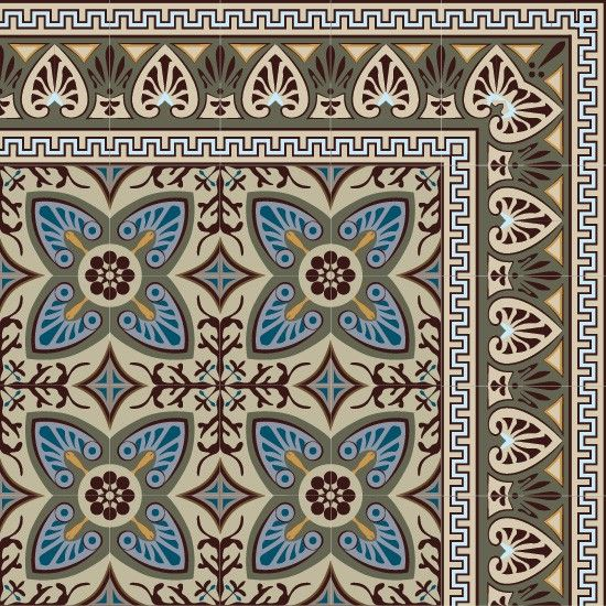 Vinyles and bleu on pinterest for Imitation carrelage ancien