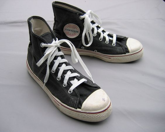 Quot Vtg 1950s 60 S Converse Shoes Hi Top Blk Fast Break