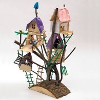 With some twigs and a few craft supplies, let the kids imagination take over and they can build tiny tree houses!