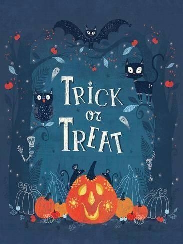Giclee Print: Trick or Treat by Advocate Art : 48x36in #halloweenstuff