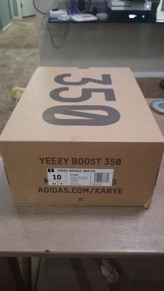 Yeezy Boost 350 Bred V2 SIZE 10 BOX ONLY #fashion #clothing