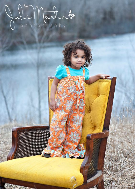 NEW Spring/Summer Knot Overalls Orange Delight by FrillsNFluff, $38.00