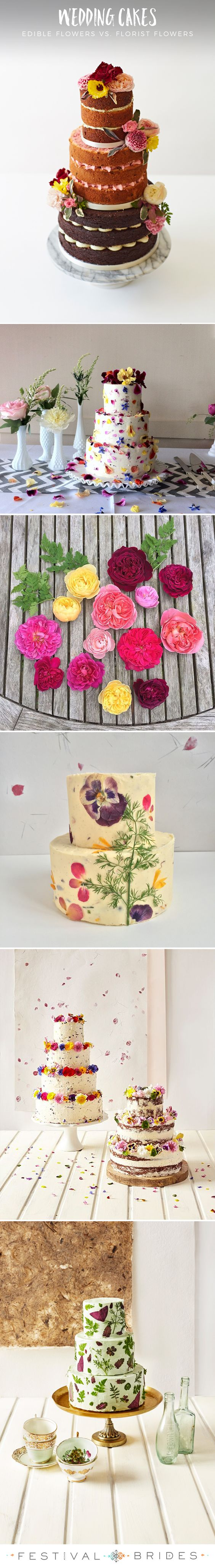 FESTIVAL BRIDES | Decorating #wedding #cakes with edible flowers vs. florist flowers with Bee's Bakery! #floralweddingcake