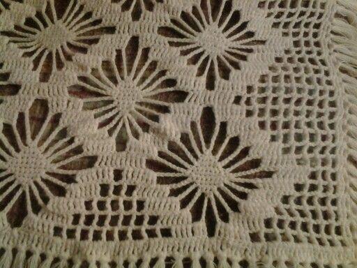 Colcha tejida a crochet