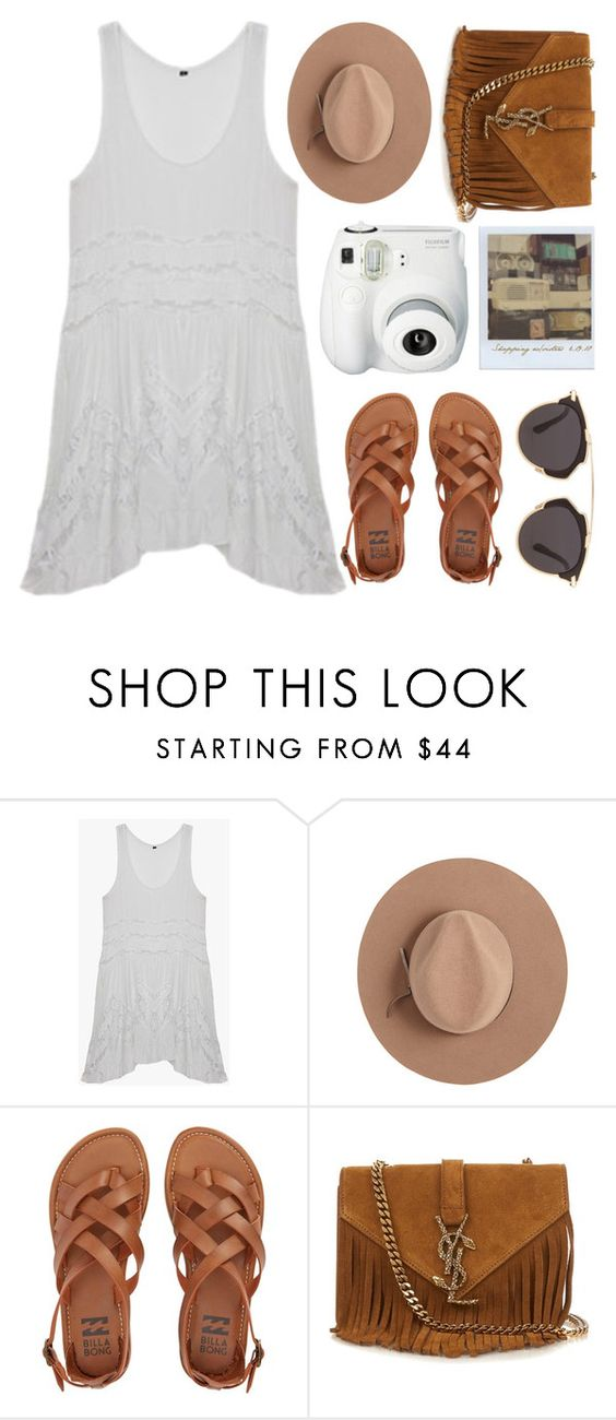 """Boho Feels"" by genuine-people ❤ liked on Polyvore featuring Satya Twena, Billabong, Yves Saint Laurent, Christian Dior and Polaroid"