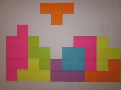 GARACHICO ENCLAVE: Decorando con post-it: tetris