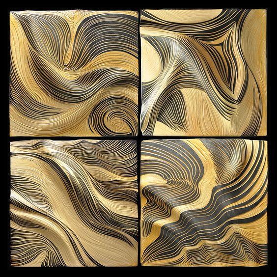 Honey Ripple_18 inch four tile_NBStudios_2015
