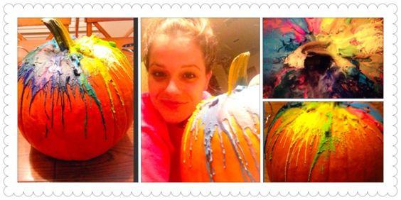 Boo-ti-ful fun for halloween! By Amy Pearl As seen on SanAntonio Living. Pumpkin art using crayons.