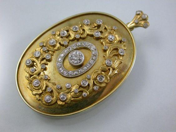 Traumhafter antiker Kettenanhänger mit Diamanten