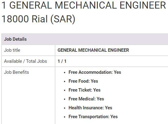 General Mechanical Engineer Jobs In Saudi Arabia 2019 Bus Driver Jobs Mechanical Engineering Job