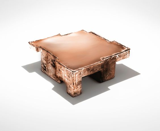 2014 - Art Basel Miami / Design - Nucleo, ''Metal Fossil Copper coffee table',' 2014, ammann//gallery