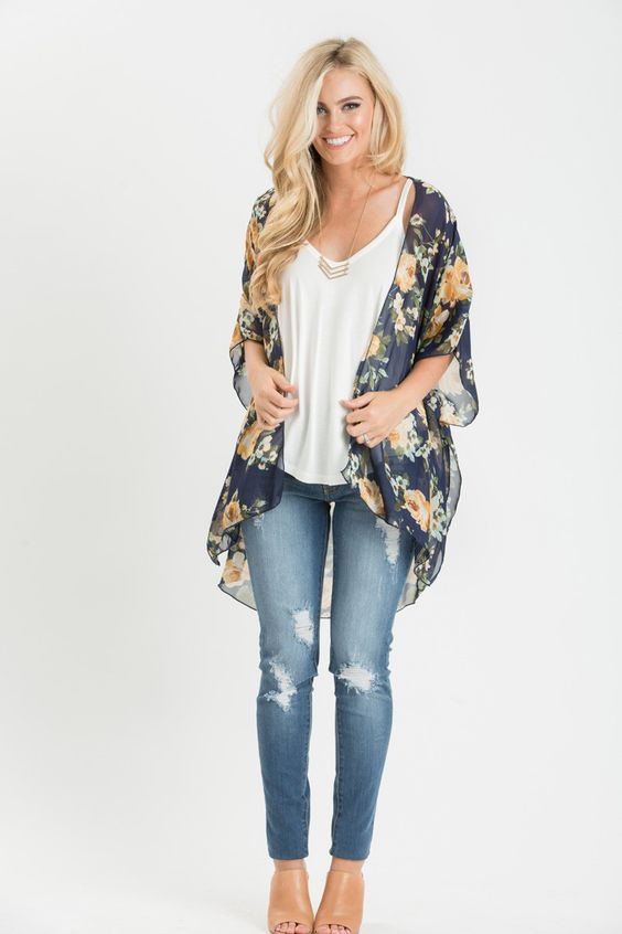 Floral Kimonos for Women, Women's Outfit Ideas, Styling Tips for Women, Women's Boutique