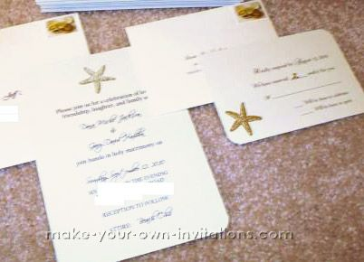 How To Make Your Own Starfish Wedding Invitations For A Beach Themed Wedding