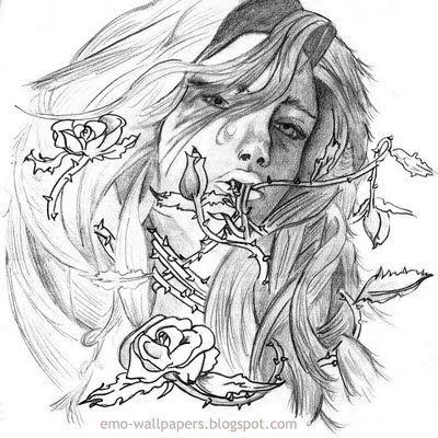 Cartoon, Emo cartoons and Love heart on Pinterest