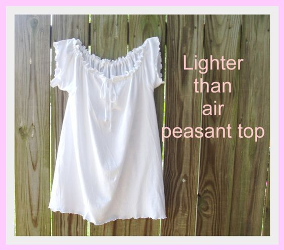 Tutorial: Lighter Than Air Peasant Top from Man's Tee