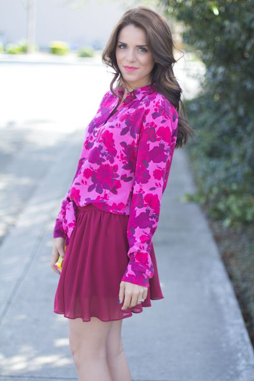love this blouse. suddenly became a fan of eccentric floral clothing.
