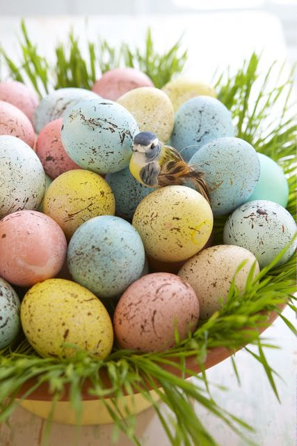 Jajka malowane na pstrokato