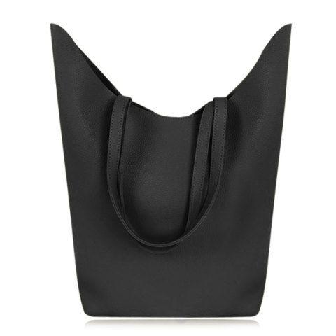 Textured PU Leather Shoulder Bag