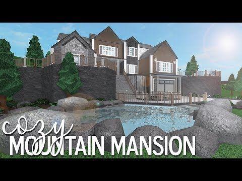 Roblox Bloxburg Cozy Mountain Mansion 105k Youtube Mansions