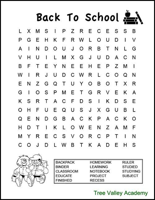 Back To School Word Search Puzzles For Kids English Worksheets For Kids Word Puzzles For Kids Kids Word Search