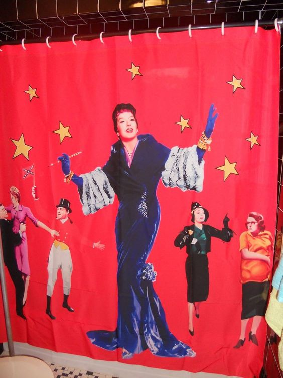Auntie Mame Shower Curtain Rosalind Russell Gay Camp The Women ...