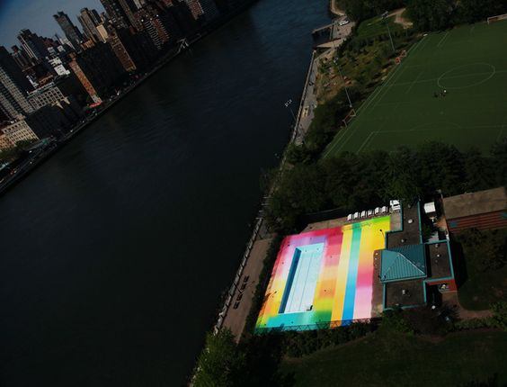 "Street Artist and installation artist Hot Tea's  ""Asylum""  in plain view of Manhattan and Queens."