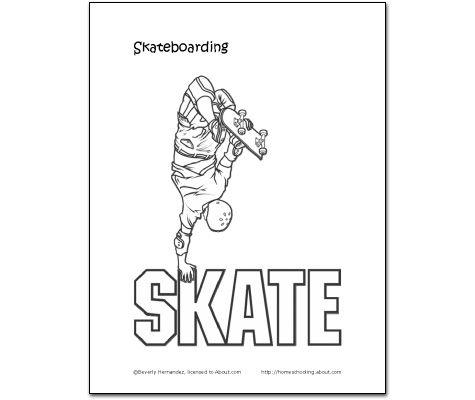 Home School Skateboard Skateboard Coloring Page Happy Go Skateboard Coloring Pages