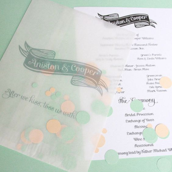 Creative Wedding Program Ideas - Sample Wedding Programs Wedding - wedding agenda sample