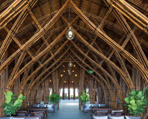 Evelo Architecten Illuminates G Sussindustries Headquarters In Amsterdam Bamboo Architecture Bamboo Building Bamboo House Design