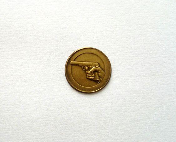 1950s Pistool / schietsport Medaille Inleg. Charm / door RVHills