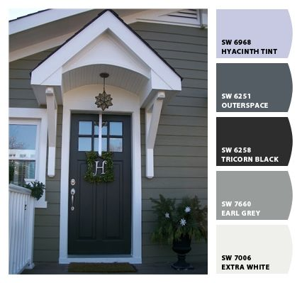 Paint colors the white and door with window on pinterest for Outer doors for homes