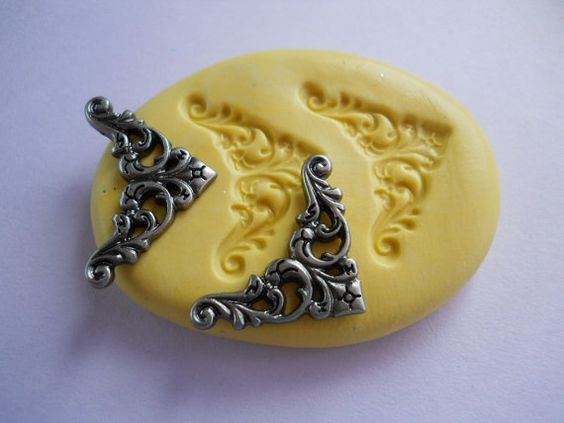 Victorian Decorative Piece Flexible Mold Scrapbooking Polymer Clay Fimo Resin Air Dry Clay Mold Mould (d1)