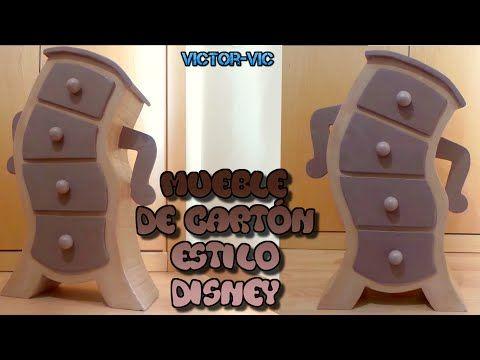 Manualidades disney and youtube on pinterest - Imagenes de muebles de carton ...