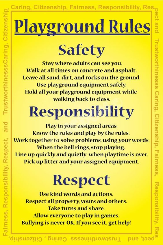 playground rules for preschoolers playground education banners for your school 131