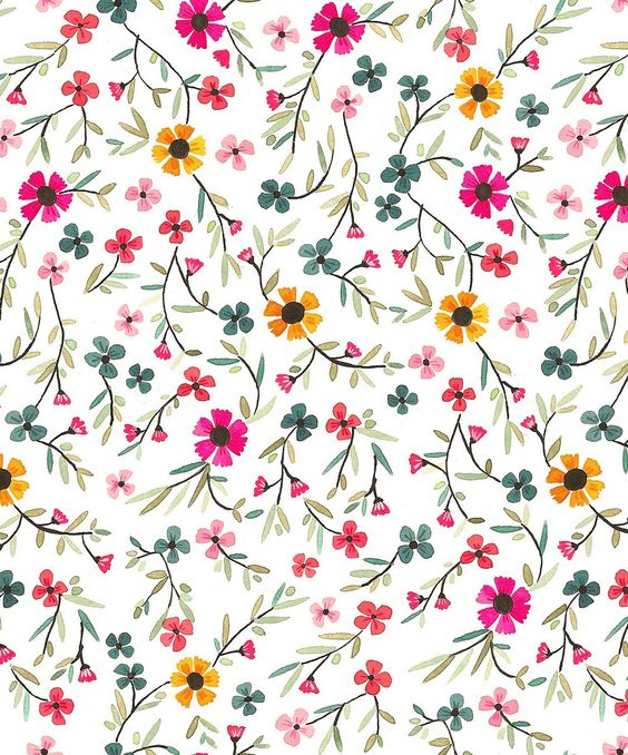 Floral pattern. Estampado floral.: