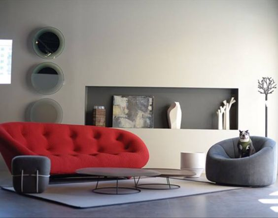 ploum sofa and pumpkin armchair from ligne roset livebeautifully have a. Black Bedroom Furniture Sets. Home Design Ideas