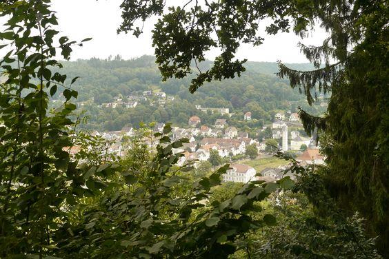 Aussicht vom Sängertempel auf Bad Karlshafen