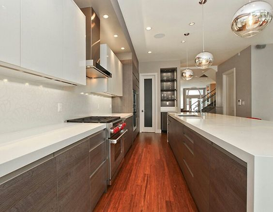 white kitchen cabinets high gloss two tone grey gray wall paint ...