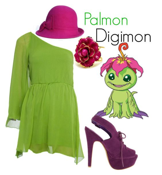 """Palmon - Digimon"" by teamrocketme ❤ liked on Polyvore featuring C Label, Fantasy Jewelry Box and San Diego Hat Co."
