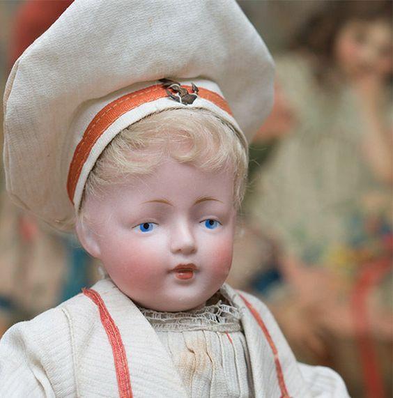 "11"" Antique All Original German Bisque Character doll,178,by Kestner"