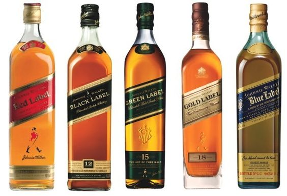 Three Johnnie Walker cocktails